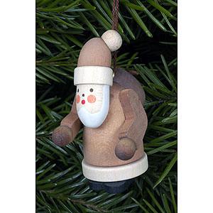Tree ornaments Santa Claus Tree Ornament - Santa Claus Natural Colors - 2,5x5,0 cm / 1x2 inch