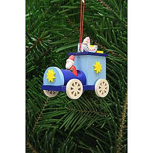 Tree ornaments Toy Design Tree Ornament - Santa Claus in Truck - 7,2 cm / 2.8 inch