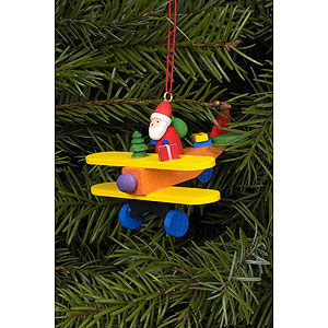 Tree ornaments Santa Claus Tree Ornament - Santa Claus on Plane - 6,8x4,8 cm / 3x2 inch
