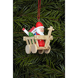 Tree ornaments Christmas Tree Ornament - Santa in Car - 5,4x4,7 cm / 2.1x1.7 inch