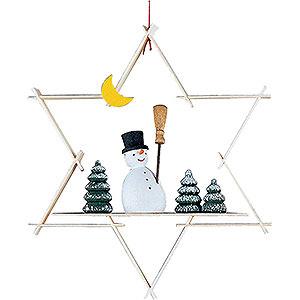 Tree ornaments Snowmen Tree Ornament - Snow Man - 9,5 cm / 3.7 inch