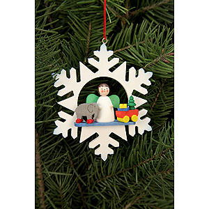 Tree ornaments Angel Ornaments Misc. Angels Tree Ornament - Snowflake Angel with Toys - 9,0x9,0 cm / 3.5x3.5 inch