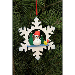 Tree ornaments Misc. Tree Ornaments Tree Ornament - Snowflake Snowman - 9,0x9,0 cm / 3.5x3.5 inch
