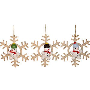 Tree ornaments Snowmen Tree Ornament Snowman, 3 Stück - 5 cm / 2 inch