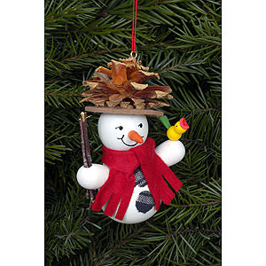 Tree ornaments Snowmen Tree Ornament - Snowman Coneman - 7,0x9,0 cm / 2x3 inch