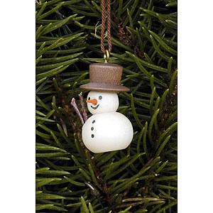 Tree ornaments Snowmen Tree Ornament - Snowman Natural - 3,0x2,0 cm / 1.2x0.8 inch