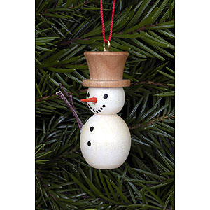 Tree ornaments Snowmen Tree Ornament - Snowman Natural Colors - 2,0x4,0 cm / 1x2 inch
