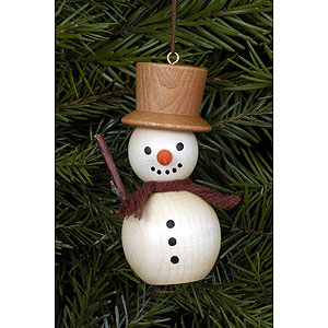 Tree ornaments Snowmen Tree Ornament - Snowman Natural Colors - 3,0x7,0 cm / 1x3 inch