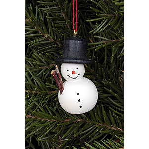 Tree ornaments Snowmen Tree Ornament - Snowman White - 2,5x4,6 cm / 1.0x1.8 inch