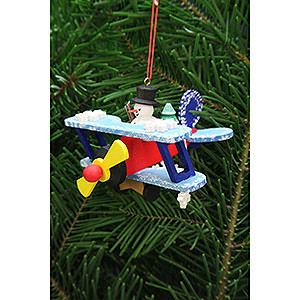 Tree ornaments Toy Design Tree Ornament - Snowman in Plane - 9,6 cm / 3.8 inch