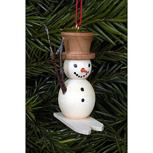Tree ornaments Snowmen Tree Ornament - Snowman on Skis - 4,8x4,5 cm / 2x2 inch