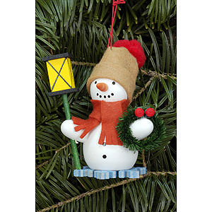 Tree ornaments Snowmen Tree Ornament - Snowman with Lantern - 6,3x8,0 cm / 2.5x3.1 inch