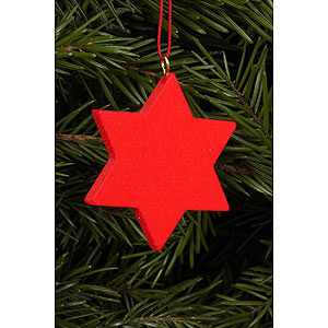 Tree ornaments Moon & Stars Tree Ornament - Star Red - 4,4x4,4 cm / 2x2 inch