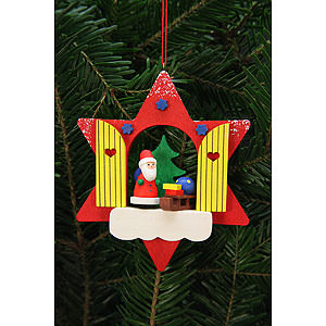 Tree ornaments Santa Claus Tree Ornament - Star Window with Niko - 9,5x9,5 cm / 4x4 inch
