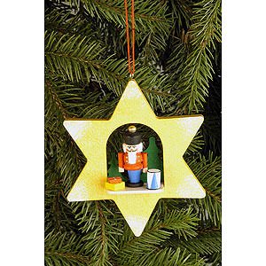 Tree ornaments Moon & Stars Tree Ornament - Star with Nutcracker - 9,5x9,5 cm / 3.7x3.7 inch
