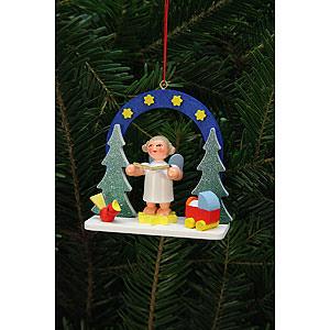 Tree ornaments Angel Ornaments Misc. Angels Tree Ornament - Starry Ski with Angel - 7,5x7,1 cm / 3x3 inch