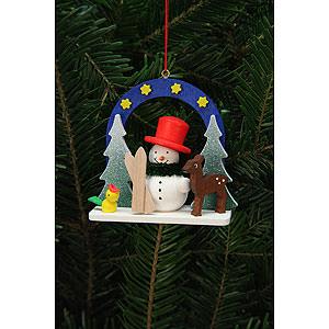 Tree ornaments Snowmen Tree Ornament - Starry Sky with Snowman - 7,5x7,1 cm / 3x3 inch