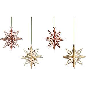 Tree ornaments Moon & Stars Tree Ornament - Stars 3D - Set of 4 - 7 cm / 2.8 inch