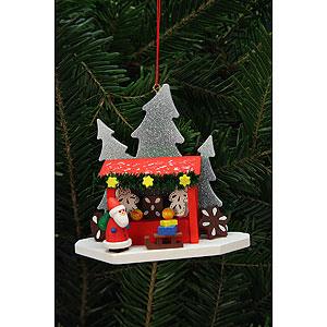Tree ornaments Santa Claus Tree Ornament - Strizelmarkt Booth with Niko - 9,2x8,7 cm / 4x3 inch