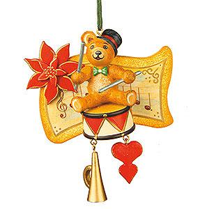 Tree ornaments Toy Design Tree Ornament - Teddy Drummer - 7 cm / 3 inch