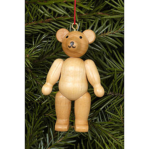 Tree ornaments Misc. Tree Ornaments Tree Ornament - Teddy Natural Colors - 4,5 / 6,2 cm - 2x2 inch