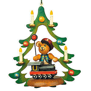 Tree ornaments Toy Design Tree Ornament - Teddy Railway - 9 cm / 3,5 inch
