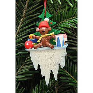Tree ornaments Toy Design Tree Ornament - Teddy on Icicle - 4,5x8,8 cm / 1.7x3.4 inch