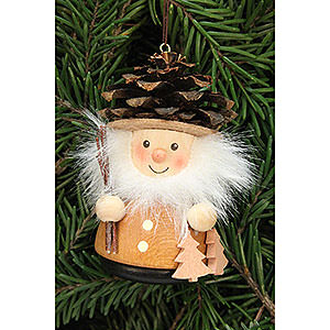 Tree ornaments Dwarfs & others Tree Ornament - Teeter Man Cone Man Natural - 8,0 cm / 3.1 inch