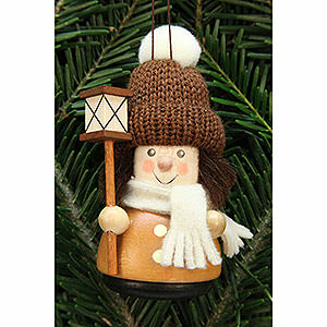Tree ornaments Dwarfs & others Tree Ornament - Teeter Man Lantern Boy, Natural - 9,5 cm / 3.7 inch