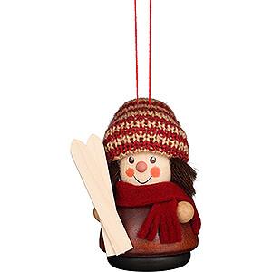Tree ornaments Winterly Tree Ornament - Teeter Man - Skier Natural - 8 cm / 3.1 inch