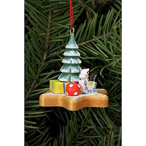 Tree ornaments Ginger Bread Design Tree Ornament - Toys on Ginger Bread Star - 5,2x4,8 cm / 2x2 inch