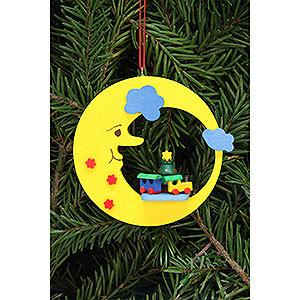 Tree ornaments Moon & Stars Tree Ornament - Train in Moon - 8,3x7,9 cm / 3.3x3.1 inch