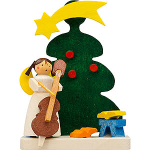 Tree ornaments Christmas Tree Ornament - Tree Angel with Cello - 6 cm / 2.4 inch