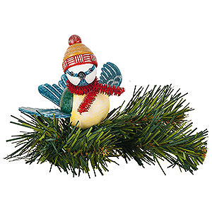 Tree ornaments Misc. Tree Ornaments Tree Ornament - Tree Clip Blue Tit - 6,5 cm / 2,5 inch