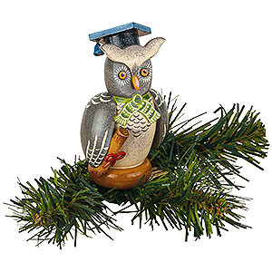 Tree ornaments Misc. Tree Ornaments Tree Ornament - Tree Clip Owl - 8,5 cm / 3,3 inch