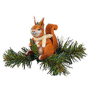 Tree ornaments Misc. Tree Ornaments Tree Ornament - Tree Clip Squirrel - 7,5 cm / 3 inch