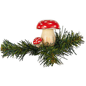 Tree ornaments Misc. Tree Ornaments Tree Ornament - Tree Clip Toadstool - 5,5 cm / 2,1 inch