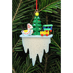 Tree ornaments Toy Design Tree Ornament - Tree with Toys on Icicle - 4,5x7,8 cm / 1.7x3 inch