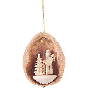 Tree ornaments Walnut Shells Tree Ornament - Walnut Shell Musician with Guitar - 4,5 cm / 1.8 inch