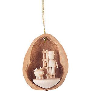 Tree ornaments Walnut Shells Tree Ornament - Walnut Shell with 3 Lucky Charms - 4,5 cm / 1.8 inch