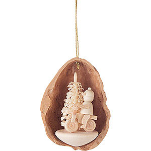 Tree ornaments Walnut Shells Tree Ornament - Walnut Shell with Cyclist - 4,5 cm / 1.8 inch