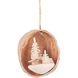 Tree ornaments Walnut Shells Tree Ornament - Walnut Shell with Deer - 4,5 cm / 1.8 inch