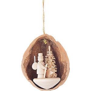 Tree ornaments Walnut Shells Tree Ornament - Walnut Shell with Forester - 4,5 cm / 1.8 inch