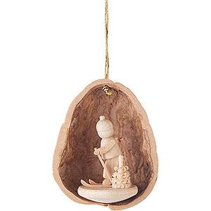 Tree ornaments Walnut Shells Tree Ornament - Walnut Shell with Skier - 4,5 cm / 1.8 inch