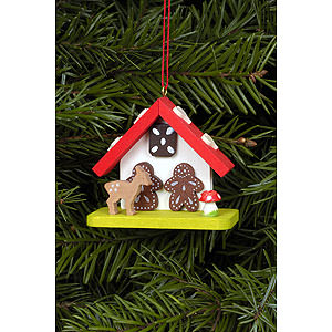 Tree ornaments Misc. Tree Ornaments Tree Ornament - Witch House with Bambi - 7,0x5,5 cm / 2.8x2.2 inch