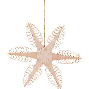 Tree ornaments Moon & Stars Tree Ornament - Wood Chip Star - 11,5 cm / 4.5 inch