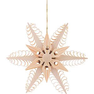 Tree ornaments Moon & Stars Tree Ornament - Wood Chip Star  - 12 cm / 4.7 inch