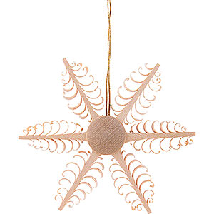 Tree ornaments Moon & Stars Tree Ornament - Wood Chip Star - 6,5 cm / 2.6 inch