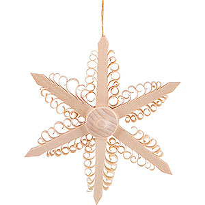 Tree ornaments Moon & Stars Tree Ornament - Wood Chip Star  - 9,5 cm / 3.7 inch