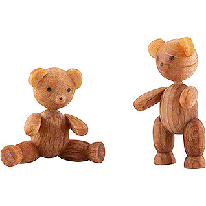 Two Bear Cubs - 2 cm / 0.8 inch
